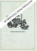 Katalog 1918 B. RUTHEMEYER Maschinenfabrik SOEST - Dampfstrassenwalzen - Ersatzteil - ROULEAU COMPRESSEUR A VAPEUR - Publicités