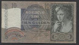Netherlands 10 Gulden 9-6-1941 / 21-9-1942 NO 1 BF 062568,  - See The 2 Scans For Condition.(Originalscan ) - [2] 1815-… : Koninkrijk Der Verenigde Nederlanden