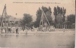 CPA 84 ENTRECHAUX  CONSTRUCTION DE LA  PASSERELLE PAR LE 7ème GENIE   1911 - France