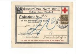 22039 - Bern  Mittelland Schweizerisches Rotes Kreuz Nachnahme 1920 Croix Rouge - BE Berne
