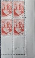 R1949/666 - 1947 - CONQUES - N°792 BLOC CdF Daté TIMBRES NEUFS** - 1940-1949