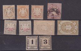 ALLEMAGNE : BAVIERE . 10 EX . * Et OBL . B A TB . 1870/76 . - Bayern