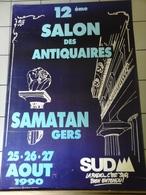 Affiches - Samatan - 12 Eme Salon Des Antiquaire  Dp 32 En 1990 - Manifesti & Poster