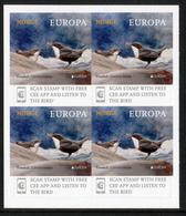 """NORWAY/Norwegen, EUROPA 2019 """"National Birds"""" Booklet Pane Of 4v**full Margins! - 2019"""