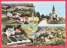 CP- 38-MOISSIEU- Ann.60_ Multivues Aériennes - Héraldique - Blason * SUP*2 SCANS - Other Municipalities