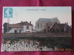 CPA - Romilly-sur- Seine - L'Eglise - Carte Toilée - Romilly-sur-Seine