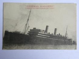 """CPA """"Général Galliéni"""" Transport Auxiliaire Français De 1er Ordre - Bateaux"""
