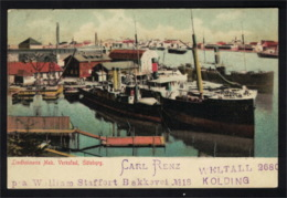 DE2100 - GÖTENBORG - LINDHOLMENS MEK. VERKSTAD - SHIP IN THE HARBOUR - Suède