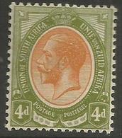 South Africa - 1913 King George V 4d  MNH **   SG 10    Sc 9 - Unused Stamps