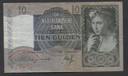 Netherlands 10 Gulden 9-6-1941 / 21-9-1942 NO 7 AM 079328,  - See The 2 Scans For Condition.(Originalscan ) - [2] 1815-… : Koninkrijk Der Verenigde Nederlanden