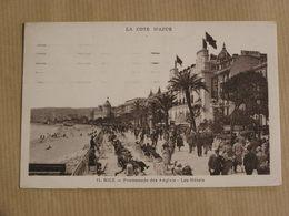 NICE  Promenade Des Anglais Les Hôtels  06 Alpes Maritimes Carte Postale France - Cafés, Hôtels, Restaurants