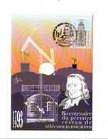 OBLITERATION BICENTENAIRE TELEGRAPHE DE CHAPPE - CLERMONT FERRAND 1993 - Postmark Collection (Covers)
