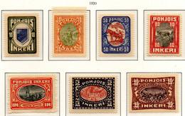 PIA - FINLANDIA  - INGRIA - 1920 : Soggetti Vari  - (Un 8-14) - Nuovi