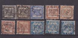 ALLEMAGNE : BADE : 10 EX . OBL . AB A B . 1862/68 . - Baden