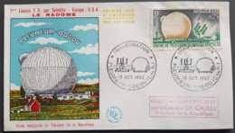 FDC 1962 - YT N°1360 - TELECOMMUNICATIONS SPATIALES / INAUGURATION  PLEUMEUR BODOU - 1960-1969
