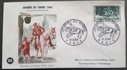 FDC 1964 - YT N°1406 - JOURNEE DU TIMBRE - PARIS - 1960-1969
