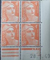 R1949/671 - 1949 - TYPE MARIANNE DE GANDON - N°808 TIMBRES NEUFS** CdF Daté - Ecken (Datum)