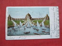 World's Fair 1904 St Louis  Cascade Gardens  Has Crease       Ref 3338 - Expositions