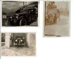 PHOTOGRAPHIES VOITURES ANCIENNES Type HISPANO SUIZA Ou TORPEDO VICTOTIA De 1924 Lot De 3 Photos à Identifier RARE - Cars