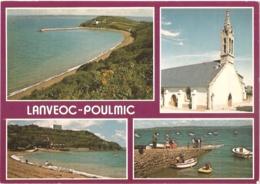 """29 - Lanvéoc Poulmic - L'anse Du Poulmic, L'église Et La Plage - Multivues (4) - éd. Jack """"Couleurs De Bretagne"""" N° 1737 - France"""
