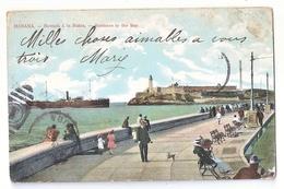 CPA CUBA HABANA ENTRADA A LA BAHIA COLORISEE 1904 TRES RARE BELLE CARTE !! - Cuba