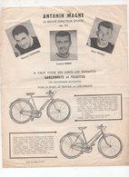(sport Cyclisme) Prospectus CYCLES ANTONIN MAGNE (photos Louison Bobet, René Privat Et Bernard Gauthier (PPP158207) - Old Paper