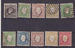 PORTUGAL : 3 EX * . REIMP. ET 7 EX OBL . B A TB . 1870/80 . - 1862-1884 : D.Luiz I