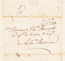 France, De P42P Nantes En 1830 Pour L'ile Maurice  TB - Marcophilie (Lettres)
