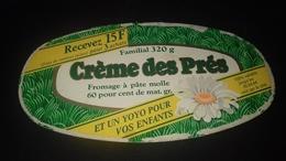 Etiquette De Fromage  Crème Des Pres - Fromage