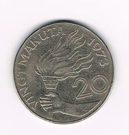 °°°  ZAIRE  20  MAKUTA  1973 - Zaïre (1971-97)