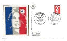 FDC 1989 MARIANNE DE BRIAT - 1980-1989