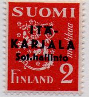 PIA - FINL- CARELIA ORIENTALE - 1941 : Amministrazione Militare - Francobollo Di Finlandia Sovrastampato  - (Yv 3) - Finland