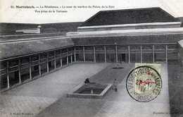 MARRAKECH- 473- La Résidence- La Cour De Marbre Du Palais De La Baia- Vue Prise De La Terrasse. 1913. - Marrakech
