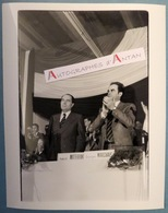 François MITTERRAND Et Georges MARCHAIS - Parti Socialiste - Communiste - Photo De Presse - PS Socialisme - Gamma - Repro's
