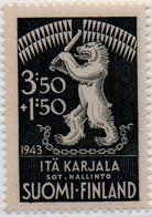 PIA - FINL- CARELIA ORIENTALE - 1943 : Amministrazione Militare - Stemma Della Carelia  - (Yv 28) - Emissions Locales