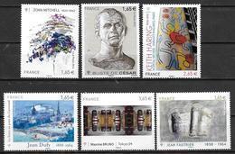 France 2014 N° 4836 - 4837 - 4849 - 4785 - 4888 - 4901 Neufs Série Artistique à La Faciale - Nuevos