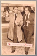François MITTERRAND Et Georges FILLIOUD - Parti Socialiste - Photo De Presse - PS Socialisme - Associated Press - Reproductions