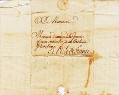 France, De Saint MALO En 1790 Pour Port Louis , Ile De France  Texte Complet TB - Marcophilie (Lettres)