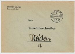 INTERO  POSTALE    DA   ESTAVAYER -LE-LAC           PER   HEIDEN   1940           (VIAGGIATA) - Entiers Postaux