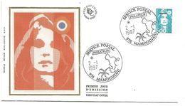 MAYOTTE FDC MARIANNE DE BRIAT à MAMOUDZOU 1997 - Mayotte (1892-2011)