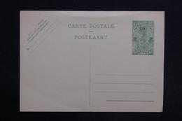 CONGO BELGE - Entier Postal Surchargé Non Utilisé - L 29053 - Entiers Postaux