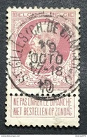 N. 77, 35 Cent Brun-rouge, Obl. St. Gilles (Ch. De Charleroi) 19/10/1910, NIPA 50 - 1905 Breiter Bart