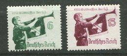 Allemagne  **,   N° 543/544 - Camp De Jeunesse - Unused Stamps