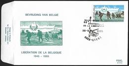1985 - BELGIË/BELGIQUE/BELGIEN - FDC [Schelde/Escaut] - Y&T 2190 + LIEGE - 1981-90
