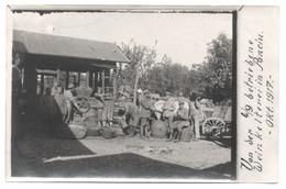 Placă Foto Romania PANCIU 1917 Război Soldați Germani Presa De Vin De Epocă - Anime Vendange Vigne Carte Photo - Moldova - Rumania