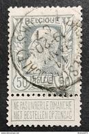 N. 78, 50 Cent Gris, Obl. Bruxelles (Rue Ducale) Valeurs 11/1/1907, NIPA 60 - 1905 Breiter Bart