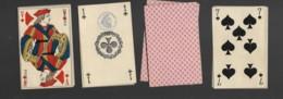Jeu De 32 Cartes à Jouer Playing Cards NON Complet Pas De Jocker Filigrane 3ème République Tampon Decrêt 11 - Cartes à Jouer Classiques