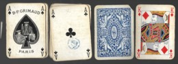 Jeu De 52 Cartes à Jouer Playing Cards Complet Pas De Jocker  Tampon Decrêt B.P. GRIMAUD PARIS 7 - Cartes à Jouer Classiques