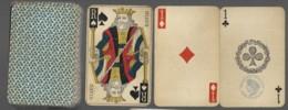 Jeu De 52 Cartes à Jouer Playing Cards Complet Pas De Jocker Date Du Jeu 3ème République Filigrane Avec Tampon Decrêt5 - Cartes à Jouer Classiques