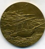 Belle Médaille ,des Transports Maritimes Des établissements Albert Bourdillon,(envoi Dans Son écrin Cartonné D Origine) - Firma's